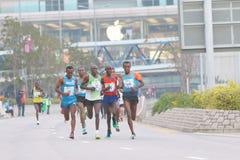 Hong Kong Marathon 2015 Imágenes de archivo libres de regalías