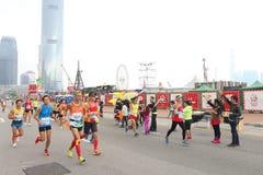 Hong Kong Marathon 2015 Imagenes de archivo