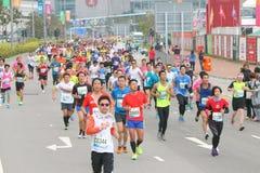 Hong Kong Marathon 2015 Imagen de archivo libre de regalías