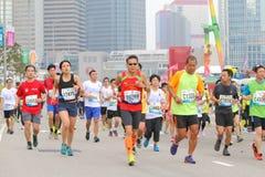 Hong Kong Marathon 2015 Foto de archivo libre de regalías