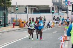 Hong Kong Marathon 2015 Arkivbilder
