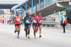 Hong Kong Marathon 2015 Fotografering för Bildbyråer