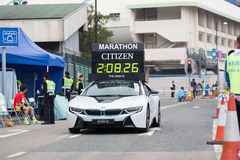 Hong Kong Marathon 2015 Royaltyfri Fotografi