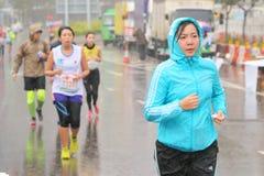 Hong Kong Marathon 2016 Foto de archivo libre de regalías
