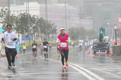 Hong Kong Marathon 2016 Imágenes de archivo libres de regalías