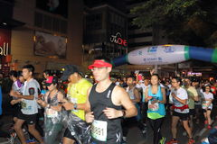 Hong Kong Marathon 2015 Royalty Free Stock Photos