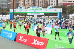 Hong Kong Marathon 2015 Stock Images