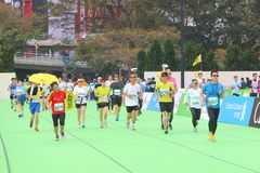 Hong Kong Marathon 2015 Royalty Free Stock Images