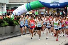 Hong Kong maraton 2010 Royaltyfri Foto