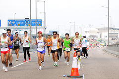 Hong Kong maraton 2012 Arkivbild