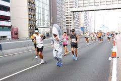 Hong Kong maraton 2012 Fotografering för Bildbyråer