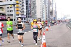 Hong Kong maraton 2012 Arkivfoto