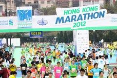Hong Kong maraton 2012 Royaltyfria Foton