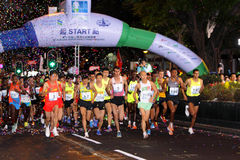 Hong Kong maraton 2013 Zdjęcie Royalty Free