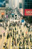 Hong Kong - March 16: Crowds on the street of Hong Kong, Central district on March 16, 2012. Royalty Free Stock Photos