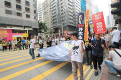 Hong Kong march event of 26th anniversary of Tiananmen Square protests of 1989 Stock Photo