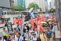 Hong Kong march event of 26th anniversary of Tiananmen Square protests of 1989 Stock Photography