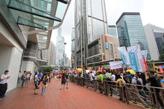2015 Hong Kong march event of 26th anniversary of Tiananmen Square protests of 1989 Stock Image