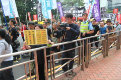 2015 Hong Kong march event of 26th anniversary of Tiananmen Square protests of 1989 Royalty Free Stock Photography