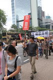 2015 Hong Kong march event of 26th anniversary of Tiananmen Square protests of 1989 Royalty Free Stock Image