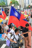 2015 Hong Kong march event of 26th anniversary of Tiananmen Square protests of 1989 Stock Photo