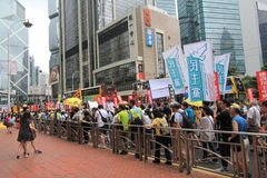 2015 Hong Kong march event of 26th anniversary of Tiananmen Square protests of 1989 Royalty Free Stock Images