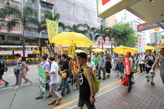 2015 Hong Kong march event of 26th anniversary of Tiananmen Square protests of 1989 Stock Photos