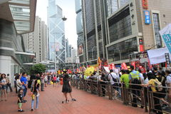 2015 Hong Kong march event of 26th anniversary of Tiananmen Square protests of 1989. The 26th anniversary of Tiananmen Square protests of 1989 march, located in Royalty Free Stock Image