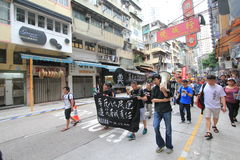 2015 Hong Kong march event of 26th anniversary of Tiananmen Square protests of 1989 Stock Images
