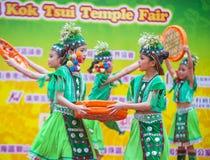 The 14th Tai Kok Tsui temple fair in Hong Kong. Royalty Free Stock Images