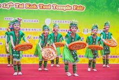 The 14th Tai Kok Tsui temple fair in Hong Kong. Royalty Free Stock Photo