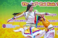 The 14th Tai Kok Tsui temple fair in Hong Kong. HONG KONG - MARCH 04 : Participants in the 14th Tai Kok Tsui temple fair in Hong Kong on March 04 2018. The Stock Image