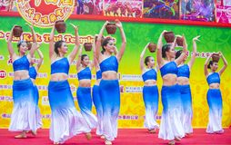 The 14th Tai Kok Tsui temple fair in Hong Kong. Royalty Free Stock Photos