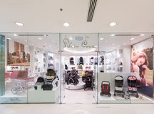 Silver Cross baby carriages store in Ocean Terminal, Hong Kong Stock Photo