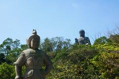 Tian Tan Buddha. Hong Kong, March 10, 2018. Tian Tan Buddha is the world tallest outdoor seated bronze Buddha stock image