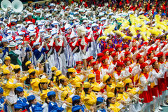 Hong Kong Marching Band. Many Hong Kong Marching Band presentation at same place Royalty Free Stock Photo