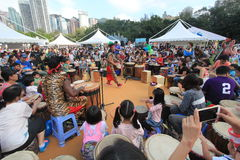 Hong Kong Mardi Gras Arts 2015 dans l'événement de parc Photographie stock