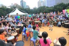 Hong Kong Mardi Gras Arts 2015 dans l'événement de parc Image stock