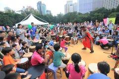 Hong Kong Mardi Gras Arts 2015 dans l'événement de parc Photos stock