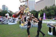 2014 Hong Kong Mardi Gras Arts in de Parkgebeurtenis Royalty-vrije Stock Afbeeldingen