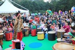 2014 Hong Kong Mardi Gras Arts in de Parkgebeurtenis Stock Fotografie