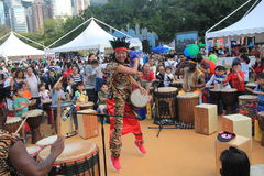 Hong Kong Mardi Gras Arts 2015 en el evento del parque Fotos de archivo libres de regalías
