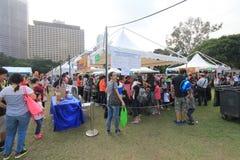 Hong Kong Mardi Gras Arts 2015 en el evento del parque Imágenes de archivo libres de regalías