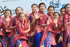 Hong Kong Mardi Gras Arts 2015 im Parkereignis Lizenzfreies Stockfoto