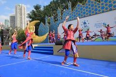 Hong Kong Mardi Gras Arts 2015 no evento do parque Fotografia de Stock