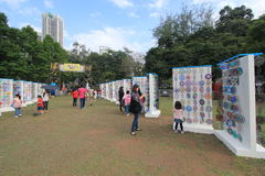 Hong Kong Mardi Gras Arts 2015 no evento do parque Fotos de Stock