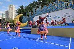 Hong Kong Mardi Gras Arts 2015 no evento do parque Imagem de Stock