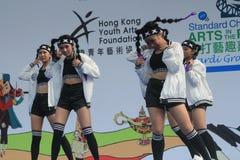 Hong Kong Mardi Gras Arts 2015 no evento do parque Fotografia de Stock Royalty Free