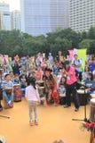 Hong Kong Mardi Gras Arts 2015 no evento do parque Fotos de Stock Royalty Free