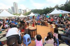Hong Kong Mardi Gras Arts 2015 no evento do parque Foto de Stock Royalty Free